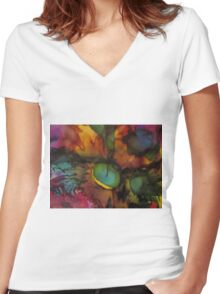Abstract 1061 Women's Fitted V-Neck T-Shirt