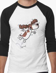 Springy Spaniel (brown) Men's Baseball ¾ T-Shirt