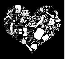 Barista Love Photographic Print