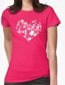Barista Love Womens Fitted T-Shirt