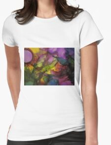 Abstract 1080 Womens Fitted T-Shirt