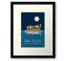 Where Toys Go! Framed Print