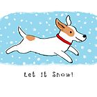 Snow Dog Holiday by Jenn Inashvili