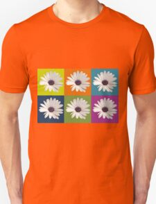 White African Daisy Collage On Bright Background T-Shirt