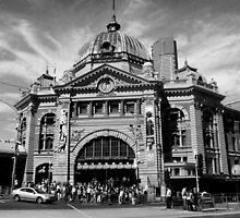 Flinders Street Station, Melbourne #2 by Roz McQuillan