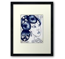 Blue China Framed Print