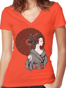Vecta Geisha Women's Fitted V-Neck T-Shirt