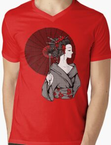Vecta Geisha Mens V-Neck T-Shirt