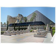 Luxor Tram ~ Luxor, Las Vegas, USA Poster