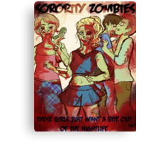 Sorority Zombies Canvas Print