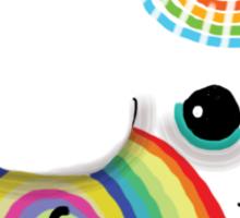 little rainbow elephant Sticker