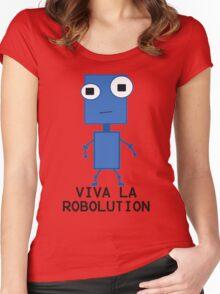 Viva La Robolution Women's Fitted Scoop T-Shirt