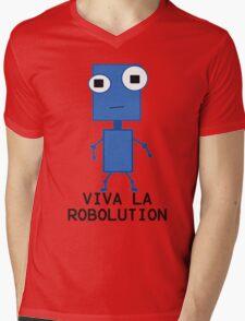 Viva La Robolution Mens V-Neck T-Shirt