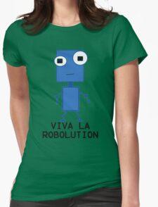 Viva La Robolution Womens Fitted T-Shirt