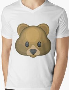 Bear emoji Mens V-Neck T-Shirt