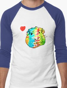 guinea pigs in the sky with diamonds Men's Baseball ¾ T-Shirt