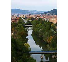 Arga River Across Pamplona Photographic Print