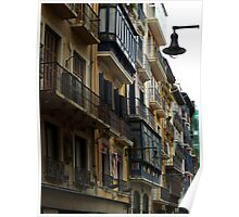 Balconies and Lampost Poster