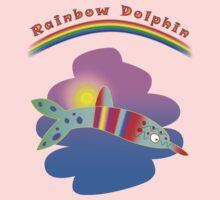 Rainbow Dolphin Kids Tee