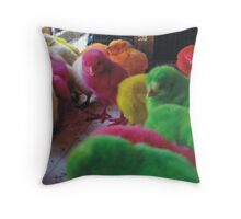 Alive colors Throw Pillow