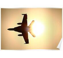 """F18 - Sun Flare"" Poster"