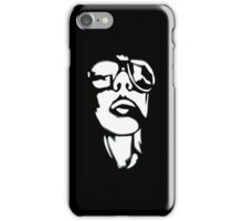 Two Tone Shades (White on Black)  iPhone Case/Skin
