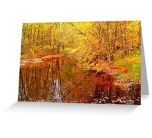 Multicolored Michigan Greeting Card