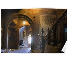 Bamburgh Castle interior view Poster