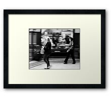 Fast Moving Shoppers  Framed Print