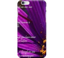 Sing, Live, Love, Dance Quote Purple African Daisy  iPhone Case/Skin