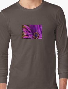 Sing, Live, Love, Dance Quote Purple African Daisy  T-Shirt