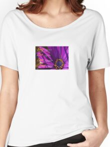 Sing, Live, Love, Dance Quote Purple African Daisy  Women's Relaxed Fit T-Shirt