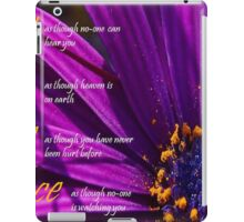 Sing, Live, Love, Dance Quote Purple African Daisy  iPad Case/Skin