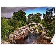 old stone bridge - carrbridge Poster