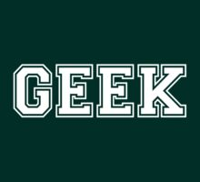 Green College GEEK Tee by Limited Apparel