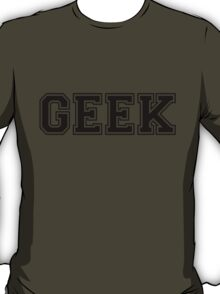 White College GEEK Tee T-Shirt