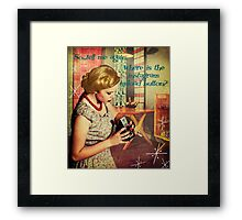 Where is the Instagram upload button? Framed Print