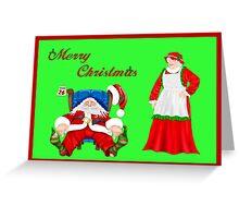 Sleeping Santa Greeting Card
