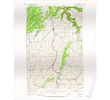USGS Topo Map Washington State WA Spangle 243891 1954 62500 Poster