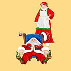 Sleeping Santa by Lorraine Smith