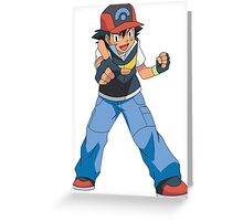 Ash pokemon Greeting Card