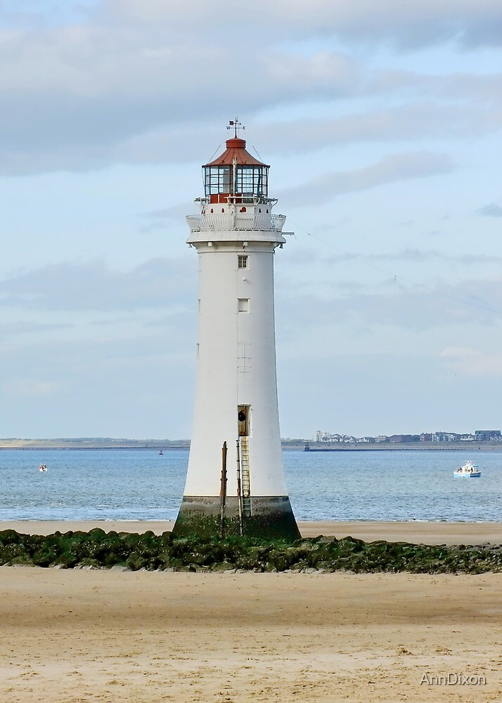 NEW BRIGHTON Lighthouse, Wirral, Cheshire, UK by AnnDixon
