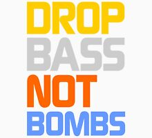 Drop Bass Not Bombs (Pacific) Mens V-Neck T-Shirt