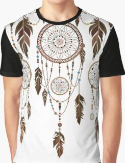 Native American Dreamcatcher Feathers Pattern Graphic T-Shirt