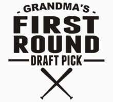 Grandma's First Round Draft Pick One Piece - Short Sleeve