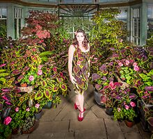 Self Portrait with my coleus by Heather Buckley