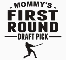 Mommy's First Round Draft Pick One Piece - Short Sleeve