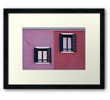 Facade of Burano Framed Print
