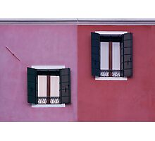 Facade of Burano Photographic Print