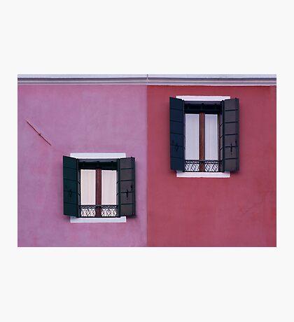Facade of Burano Photographic Print